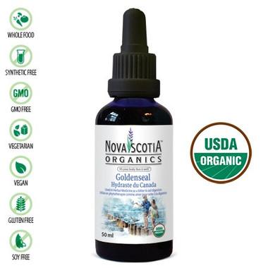 Nova Scotia Organics Goldenseal Tincture, 50 ml | NutriFarm.ca