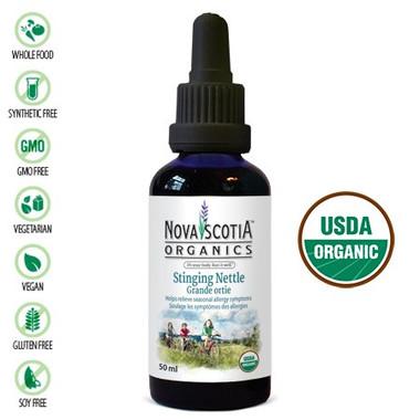 Nova Scotia Organics Stinging Nettle Tincture, 50 ml | NutriFarm.ca