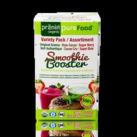 Pranin Organic PureFood Smoothie Booster Variety Pack, 12 packs of 30 g | NutriFarm.ca