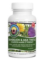 Nova Scotia Organics Dandelion & Milk Thistle, 60 Capsules | NutriFarm.ca