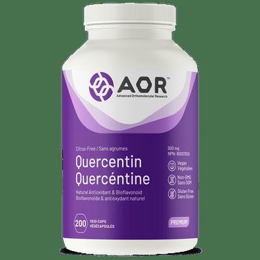 AOR Quercetin , 200 Vegetable Capsules | NutriFarm.ca