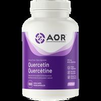 AOR Quercetin , 100 Vegetable Capsules | NutriFarm.ca