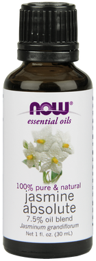 NOW Jasmine Absolute 7.5%, 30 ml   NutriFarm.ca