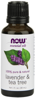 NOW Lavender and Tea Tree, 30 ml | NutriFarm.ca