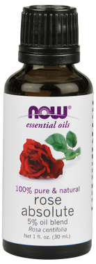 NOW Rose Absolute 5%, 30 ml   NutriFarm.ca