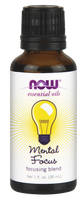NOW Mental Focus Essential Oil Blend, 30 ml | NutriFarm.ca