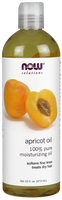 NOW Apricot Oil, 473 ml | NutriFarm.ca