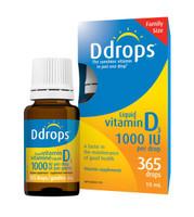 Ddrops 1000 IU, 365 drops (10 ml) | NutriFarm.ca