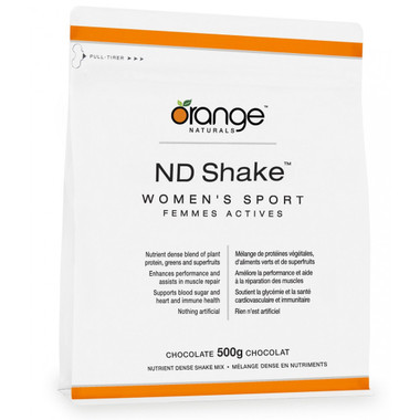 Orange Naturals ND Shake Women's Sport Chocolate, 500 g | NutriFarm.ca