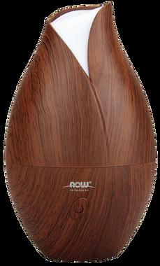 NOW Faux Wood Ultrasonic Essential Oil Diffuser, 1 unit | NutriFarm.ca