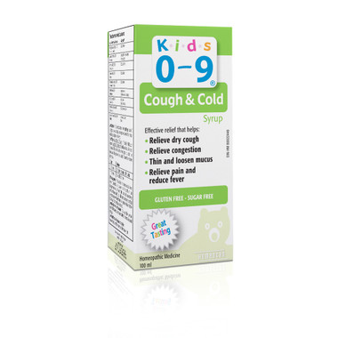 Homeocan Kids 0-9 Cough & Cold Syrup, 100 ml | NutriFarm.ca