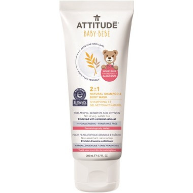 Attitude 2 in 1 Natural Shampoo and Body Wash, 200 ml | NutriFarm.ca