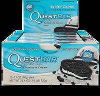 Quest Bar Cookies & Cream, Box of 12 Bars (60g/bar) | NutriFarm.ca