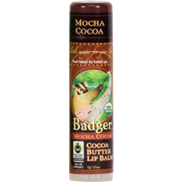 Badger Balms Mocha Cocoa Lip Balm, 7 g | NutriFarm.ca