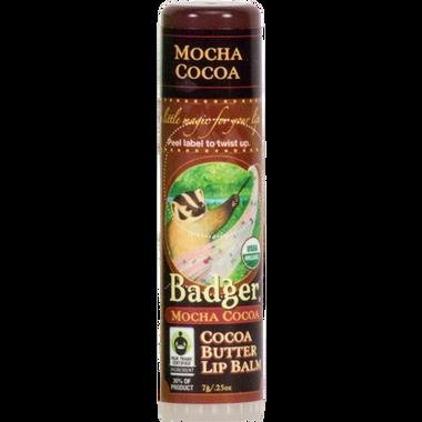 Badger Balms Mocha Cocoa Lip Balm, 7 g   NutriFarm.ca