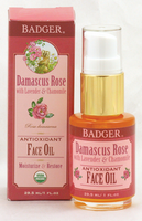 Badger Balms Damascus Rose Face Oil, 29.3 ml | NutriFarm.ca