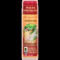 Badger Balms Poetic Pomegranate Lip Balm, 7 g   NutriFarm.ca