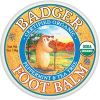 Badger Balms Foot Balm Peppermint and Tea Tree, 56 g   NutriFarm.ca