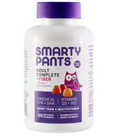 SmartyPants Adult Complete and Fiber, 120 Delicious Gummies | NutriFarm.ca
