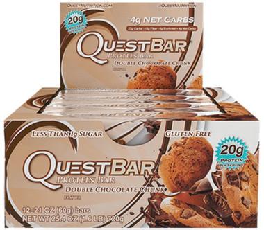 Quest Bar Double Chocolate Chunk, 12 Bars (60 g)   NutriFarm.ca