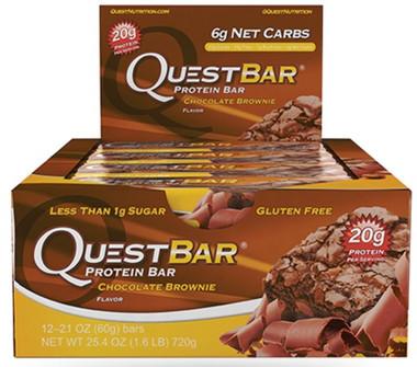 Quest Bar Chocolate Brownie, Box of 12 Bars (60 g/bar) | NutriFarm.ca