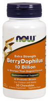 NOW BerryDophilus Extra Strength 10 Billion, 50 Chewable Tablets | NutriFarm.ca