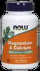 Now Magnesium and Calcium, 100 Tablets | NutriFarm.ca