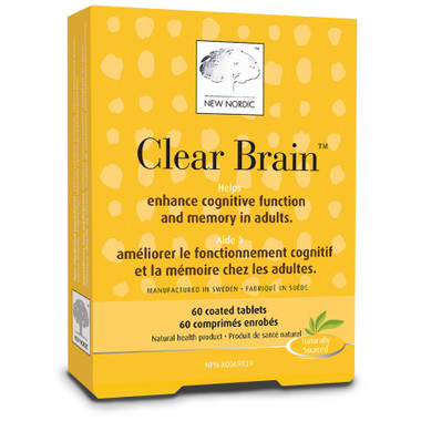 New Nordic Clear Brain, 60 coated tablets | NutriFarm.ca