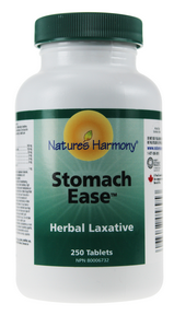 Nature's Harmony Stomach Ease Herbal Laxative, 250 tablets | NutriFarm.ca