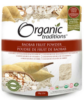 Organic Traditions Baobab Fruit Powder, 150 g | NutriFarm.ca