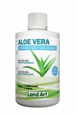 Land Art Aloe Vera Gel Unflavoured, 500 ml | NutriFarm.ca