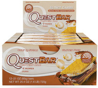 Quest Bar S'mores, Box of 12 Bars (60g/bar) | NutriFarm.ca