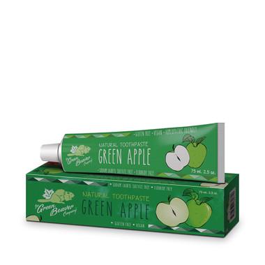 Green Beaver Green Apple Toothpaste, 75 ml | NutriFarm.ca