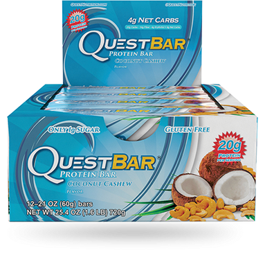 Quest Bar Coconut Cashew, 12 Bars (60 g) | NutriFarm.ca