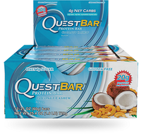 Quest Bar Coconut Cashew, 12 Bars (60 g) | NutriFarm.ca