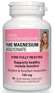 Lorna Vanderhaeghe Pure Magnesium Bisglycinate, 90 Veg Capsules | NutriFarm.ca