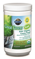 Garden of Life Great Greens Raw Organic, 240 g | NutriFarm.ca