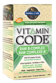 Garden of Life Raw B Complex, 60 Capsules | NutriFarm.ca