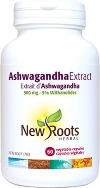New Roots Ashwagandha Extract, 60 Capsules  | NutriFarm.ca