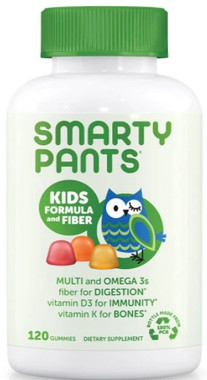 SmartyPants Kids Formula and Fiber, 120 Gummies   NutriFarm.ca