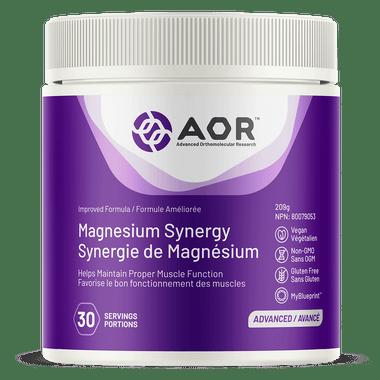 AOR Magnesium Synergy, 250 g Lemon Flavoured | NutriFarm.ca