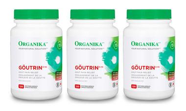 Organika Goutrin, 3 * 120 Vegetable Capsules (Bundle deal) | NutriFarm.ca