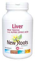 New Roots Liver (Milk Thistle), 90 Capsules | NutriFarm.ca