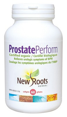 New Roots Prostate Perform Certified Organic, 60 Softgels | NutriFarm.ca
