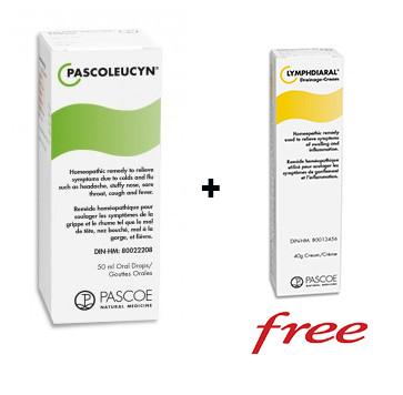PASCOE Pascoleucyn, 50 ml + Lymphdiaral Drainage Crea, 40 g (FREE) | NutriFarm.ca