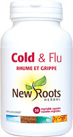 New Roots Cold & Flu, 30 vegetable capsules | NutriFarm.ca