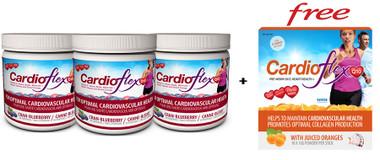 Bundle Deal) Innotech Cardio Flex Q10 Cranberry/Blueberry, 300g x 3 + Bonus Item   NutriFarm.ca