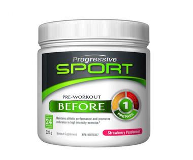Progressive Sport Pre-Workout Before Strawberry Passionfruit, 320 g | NutriFarm.ca