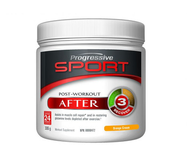 Progressive Sport Post-Workout During Orange Cream, 306 g | NutriFarm.ca