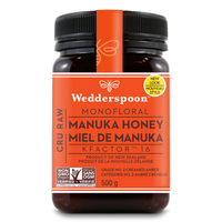 Wedderspoon Manuka Raw Honey KFactor 16, 500 g | NutriFarm.ca